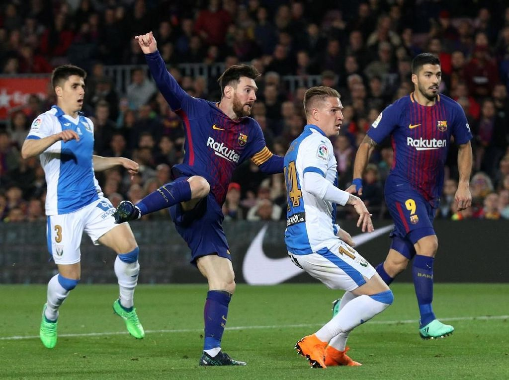 Hat-trick Messi Menangkan Barca atas Leganes