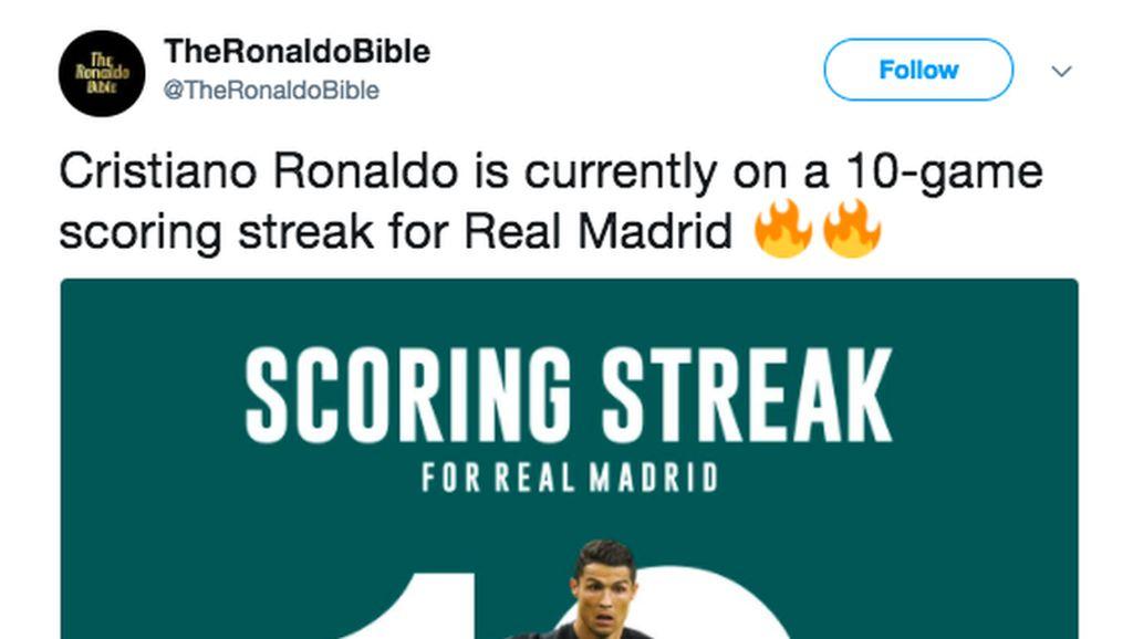 Dunia Maya Sambut Ronaldo yang Sedang Panas-panasnya