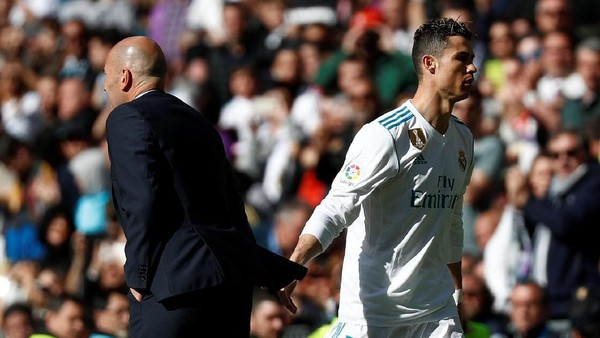 Kenapa Ronaldo Diganti? Ini Penjelasan Zidane