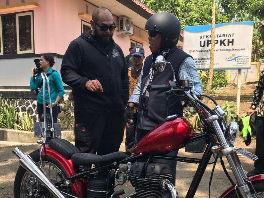 Menteri PU Keracunan Motor Chopper Jokowi