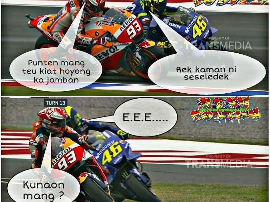 Meme-meme Lucu Rossi vs Marquez