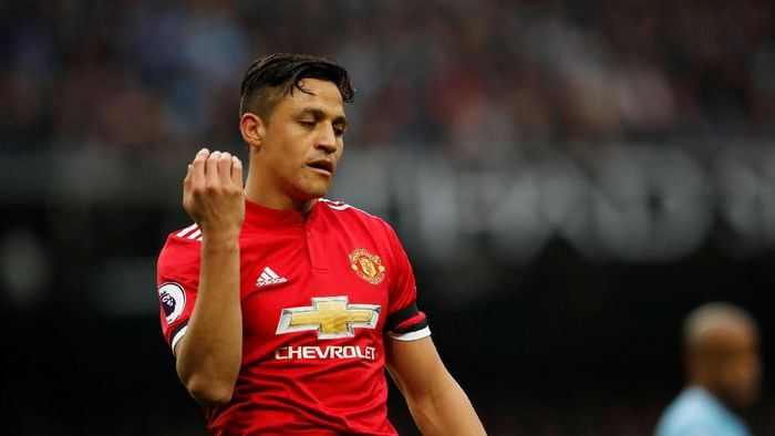 Alexis Sanchez di salah satu laga Manchester United. (Foto: Lee Smith/Reuters.)