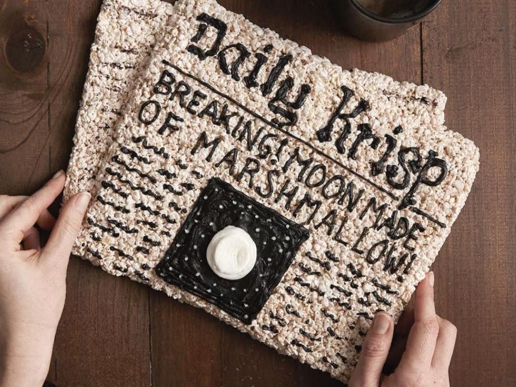 Keren! Koran dan Burger Ini Semuanya Dibuat dari Rice Crispy