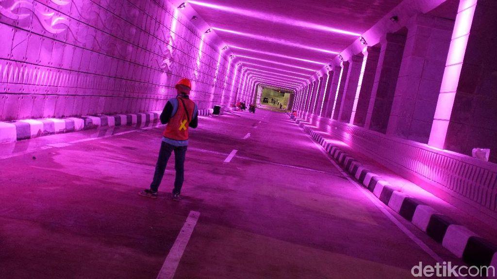 Warna-warni Underpass Mampang Siap Diuji Coba Besok