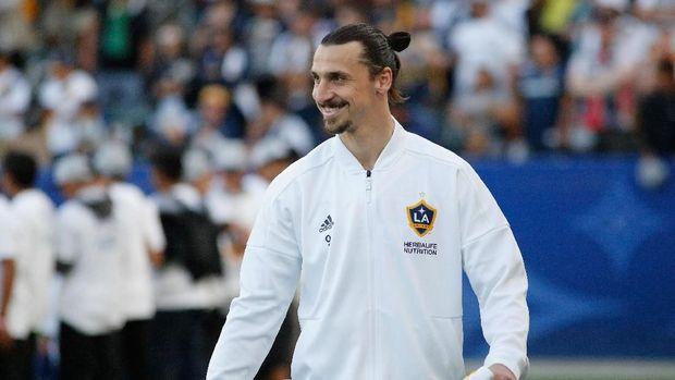 Zlatan Ibrahimovic kala bermain bersama LA Galaxy.