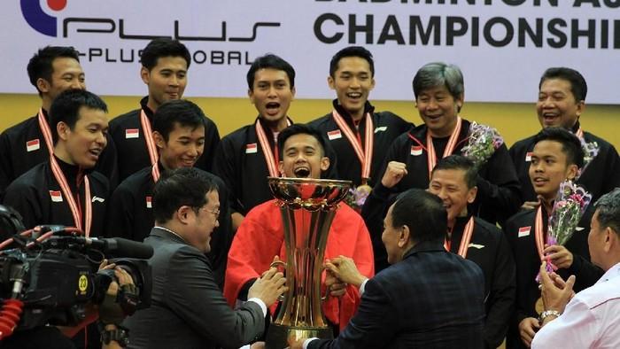 Ilustrasi tim putra bulutangkis ke kejuaraan bulutangkis beregu Asia 2018. (dok. Humas PBSI)