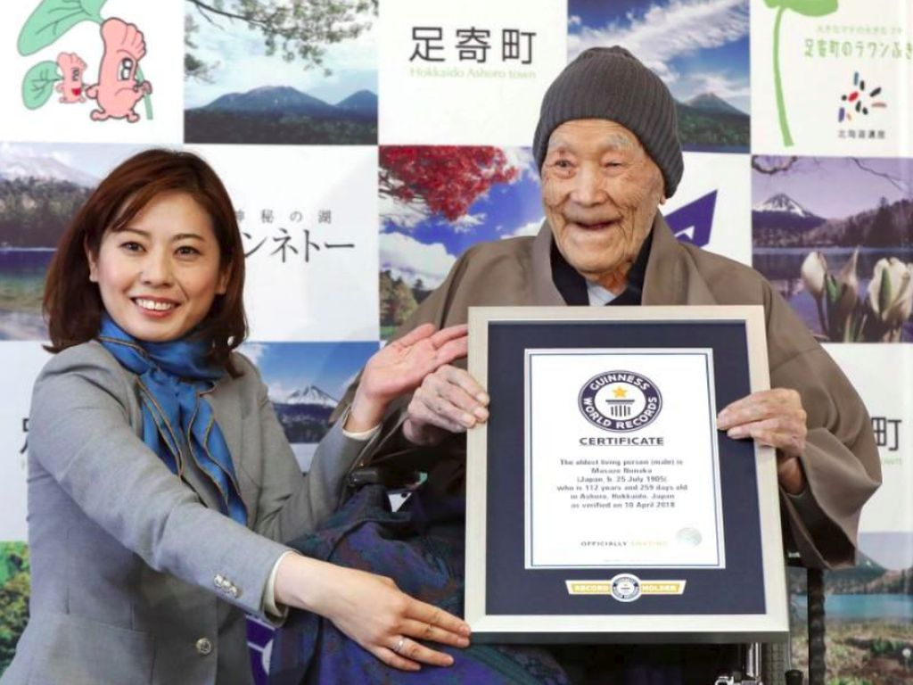 Berumur 112 Tahun, Masazo Nonaka Dinobatkan Sebagai Pria Tertua di Dunia