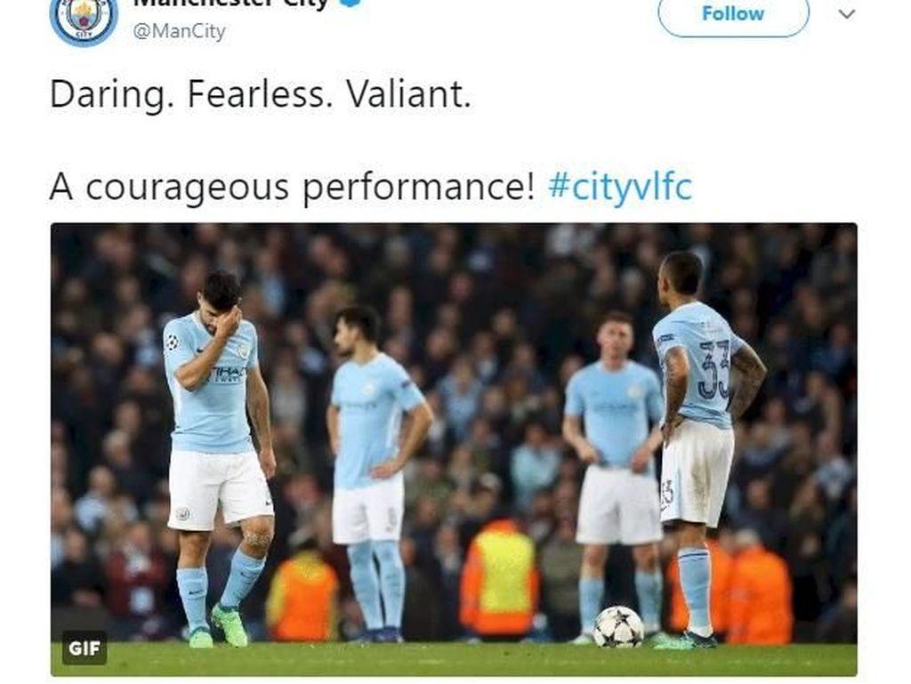 Kalah, Manchester City Jadi Tertawaan Netizen