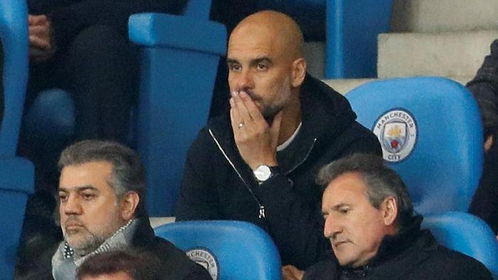 Pep Guardiola diusir ke tribun saat Manchester City menghadapai Liverpool. (Foto: Jason Cairnduff /Action Images via Reuters)