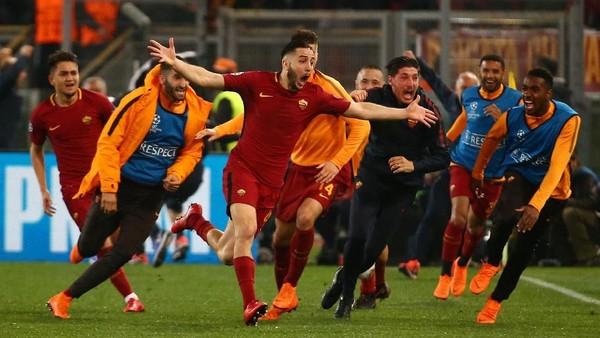 Gilas Barcelona 3-0, Roma Lolos ke Semifinal