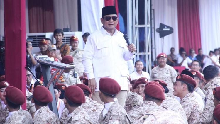 Prabowo: Saya Dibilang Ragu dan Galau, Tak Perlu Dijawab