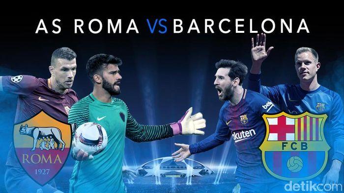 AS Roma Singkirkan Barcelona
