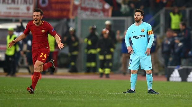 Di musim lalu Barcelona disingkirkan AS Roma.