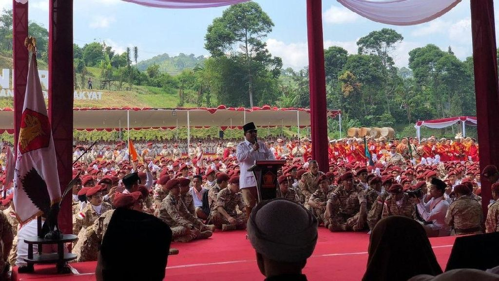 Foto: Suasana Rakornas Gerindra di Rumah Prabowo