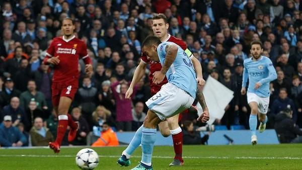 Gol Sane Dianulir, City Sementara Memimpin 1-0 atas Liverpool