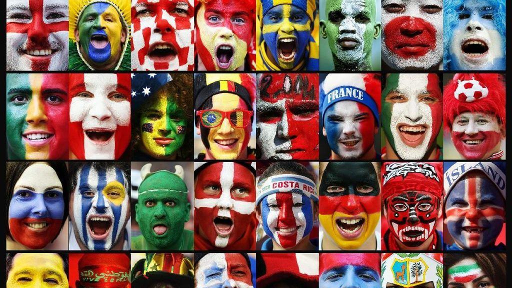 Suporter Cantik Meriahkan Piala Dunia