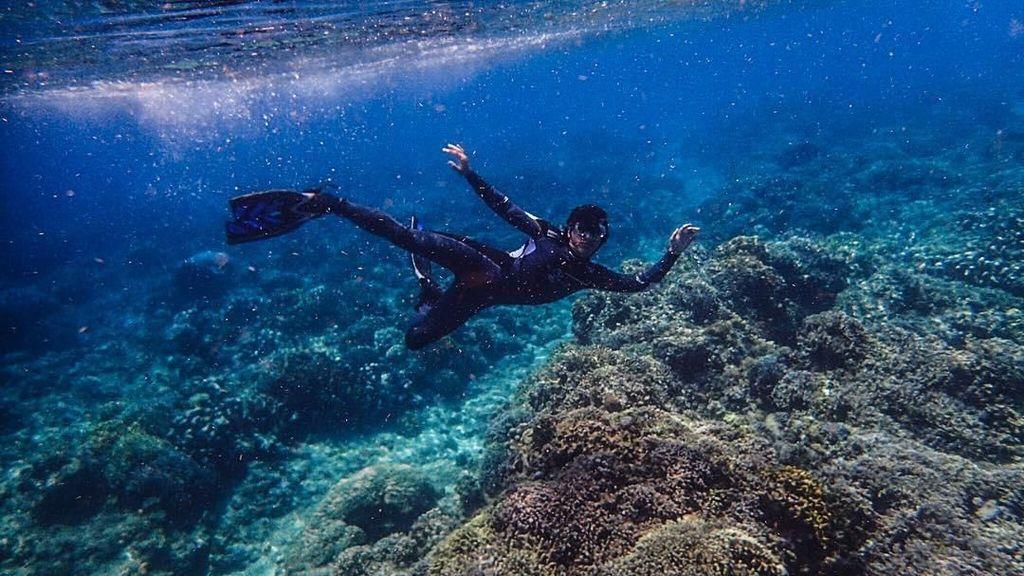 Foto: Gaya Aktor Jefri Nichol Saat Diving