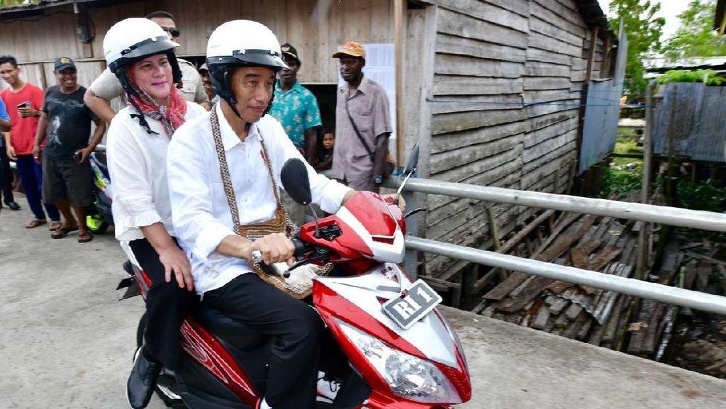 Potret Mesra Jokowi dan Iriana yang Terabadikan Kamera
