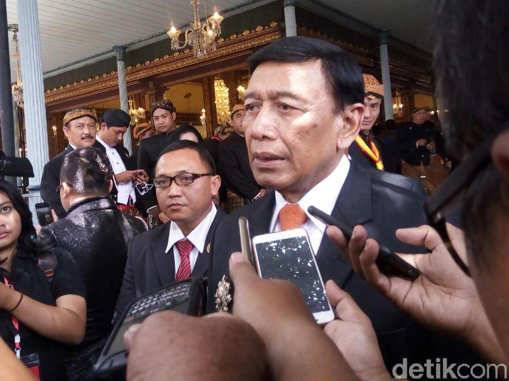 Kabareskrim, KaBIN, Kepala BNPT dan Panglima TNI Menghadap Wiranto