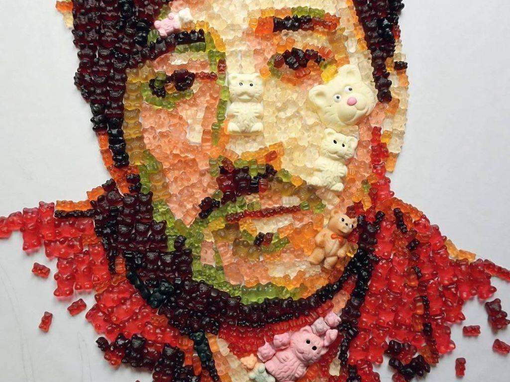 Keren! Ini Dia 9 Mozaik yang Terbuat Dari Permen dan Cokelat