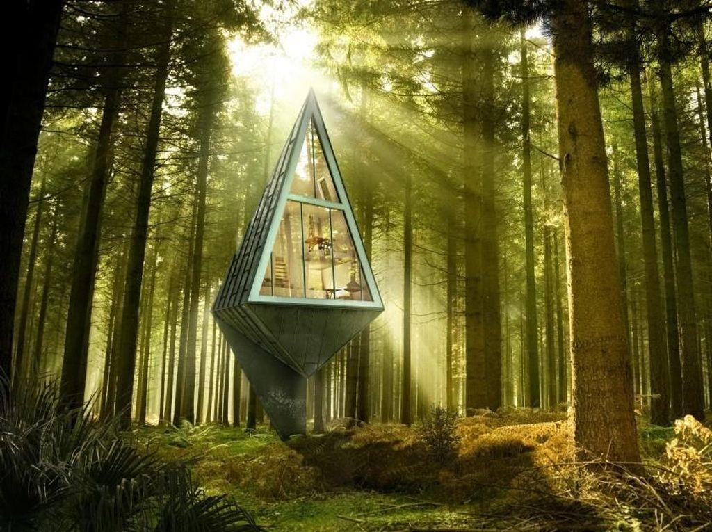 Rumah Pohon Gokil, dari Bentuk UFO Hingga Kamuflase