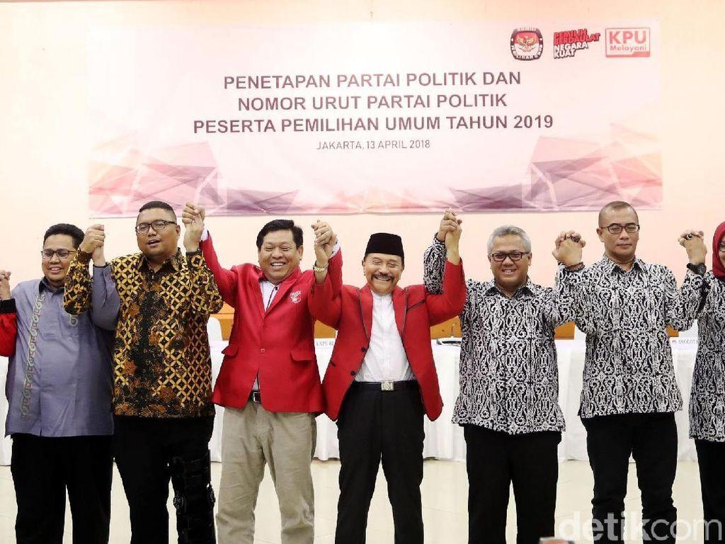 Sah! PKPI Resmi Jadi Peserta Pemilu Nomor Urut 20