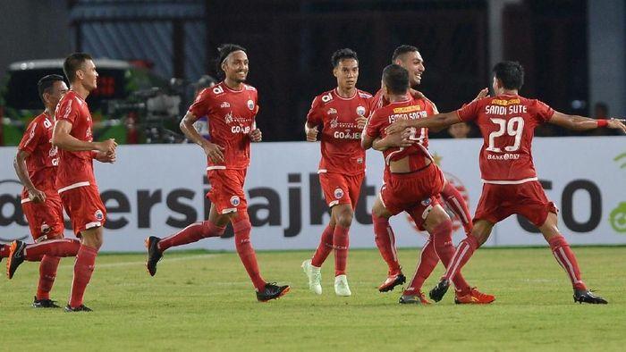 Persija di laga Liga 1 (Foto: Wahyu Putro A/Antara Foto)