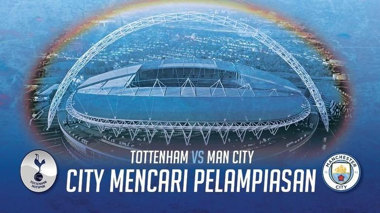 City Mencari Pelampiasan di Wembley