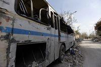Asap dan Puing yang Tersisa dari Serangan AS ke Suriah