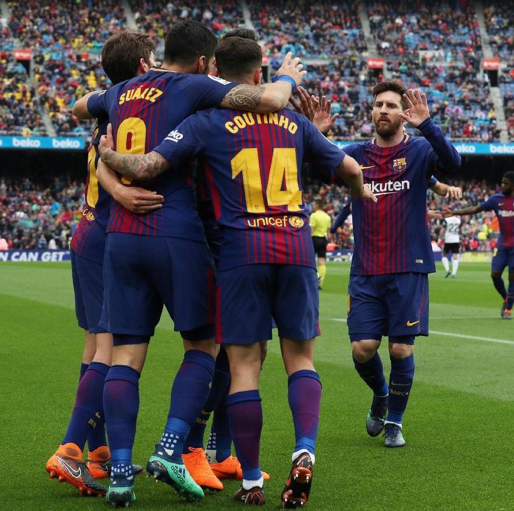 Lima Tantangan Barcelona di Lima Laga Sisa La Liga