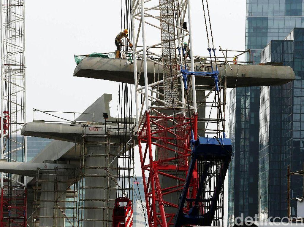 Ada Libur Panjang Lebaran, Proyek LRT Jabodebek Tetap Jalan