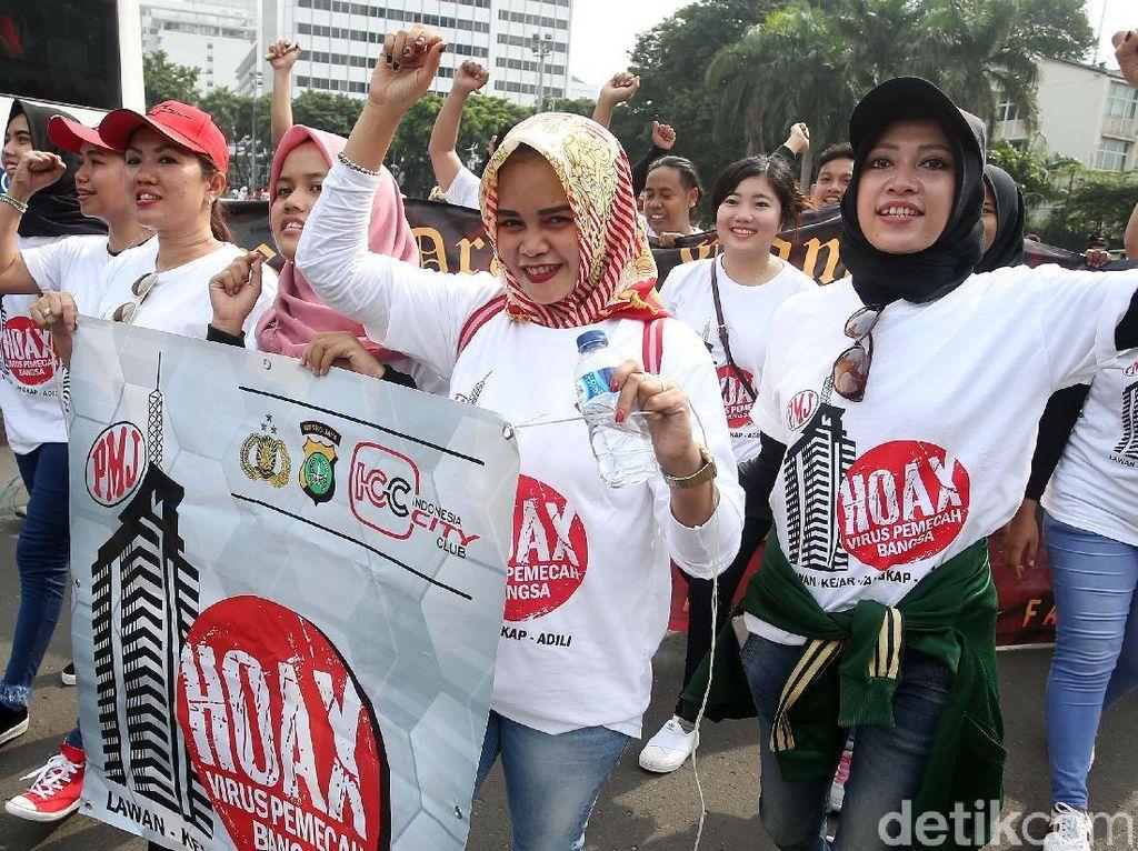 Polda Metro Jaya Kampanyekan Anti-Hoax di Bundaran HI