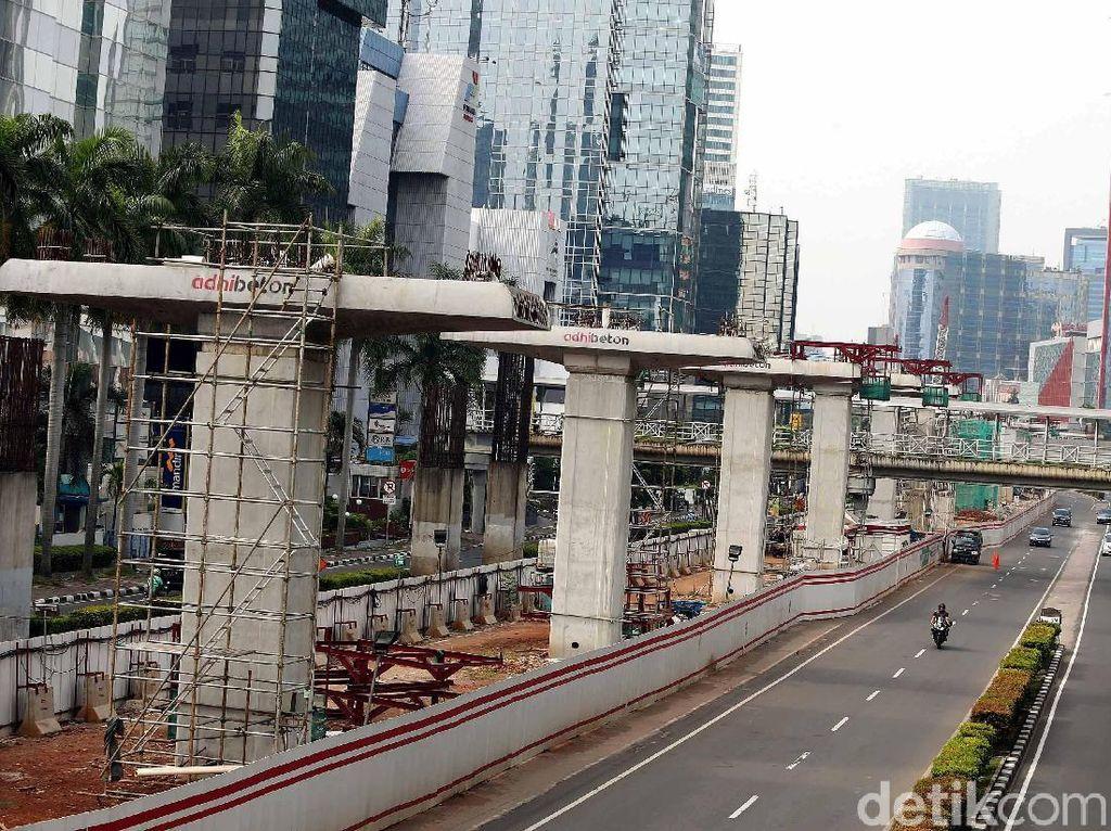 Penlok LRT Jabodebek di Setiabudi Masih Tunggu Izin Anies