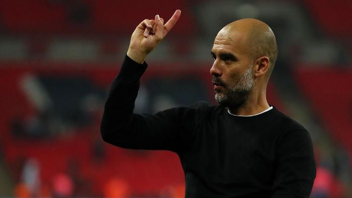 Manajer Manchester City, Josep Guardiola. (Foto: Catherine Ivill/Getty Images)