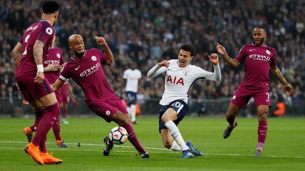 Manchester City tampil apik di markas Tottenham Hotspur.