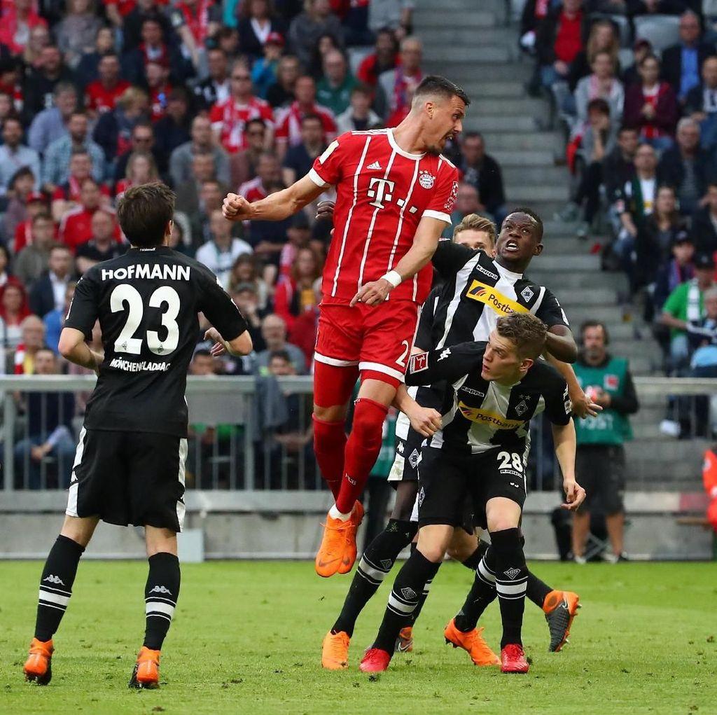 Bangkit dari Ketertinggalan, Bayern Hajar Gladbach 5-1