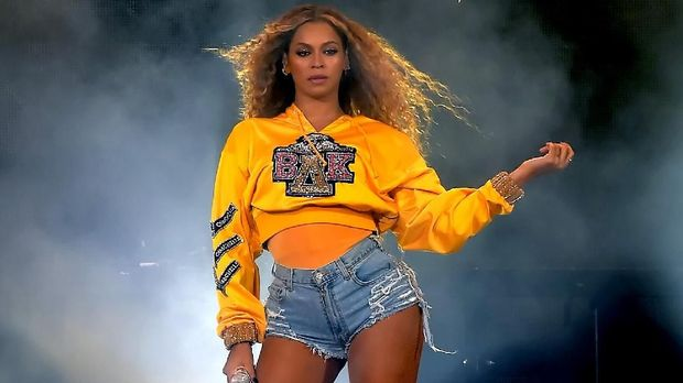 INDIO, CA - APRIL 14: Beyonce Knowles performs onstage during 2018 Coachella Valley Music And Arts Festival Weekend 1 at the Empire Polo Field on April 14, 2018 in Indio, California.   Kevin Winter/Getty Images for Coachella/AFP