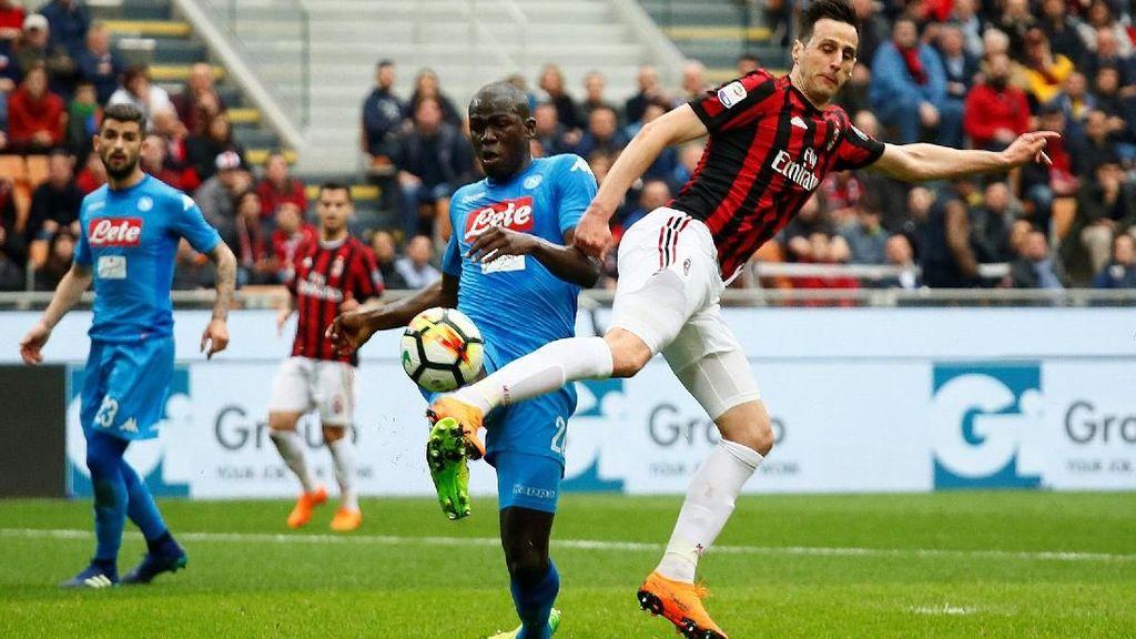 Hasil Seri dalam Duel Milan vs Napoli