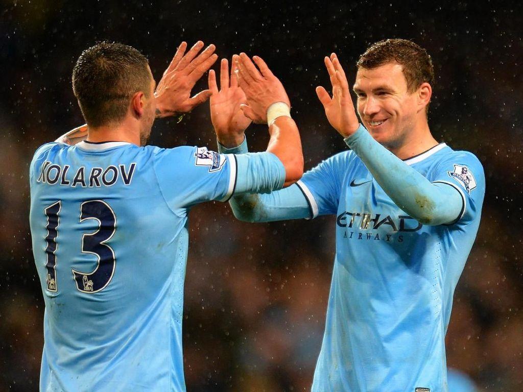 Kolarov dan Dzeko Ikut Merayakan Gelar Juara City