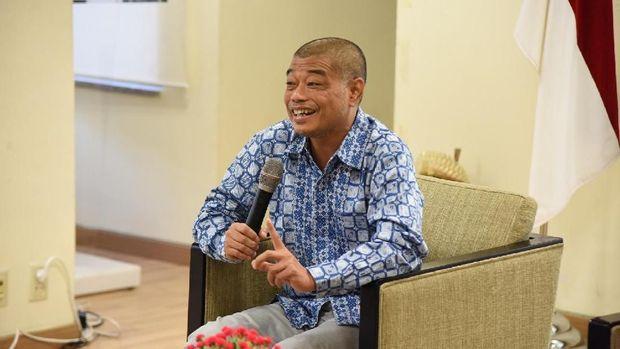Romo Benny Susetyo dalam dialog di KBRI Seoul, Korsel, Minggu (15/4).