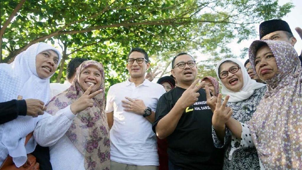 Sandiaga Uno dan Sudirman Said Sapa Warga di Pasar Tiban Salatiga