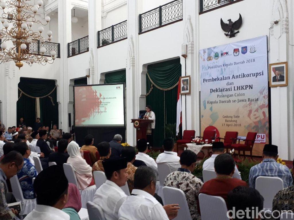 Cegah Korupsi, KPK Beri Wejangan ke Puluhan Paslon Pilkada Jabar