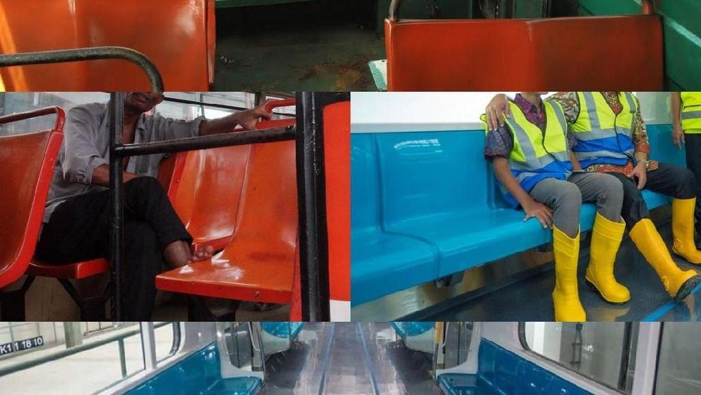 Foto: Membandingkan Kursi MRT dan Metromini, Miripkah?