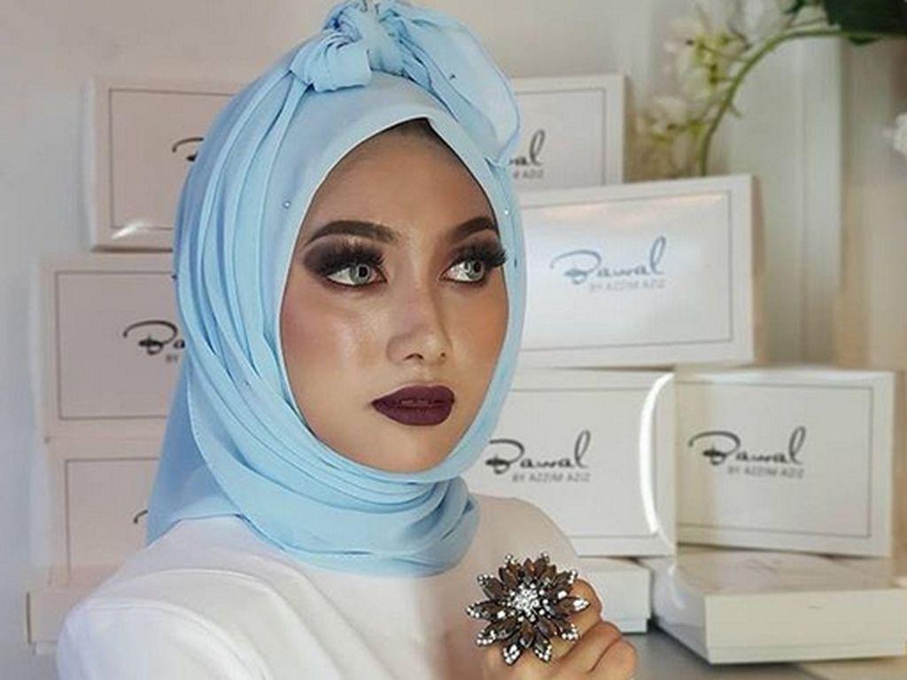 Foto: Ini Tren Gaya Hijab Pocong asal Malaysia yang Viral
