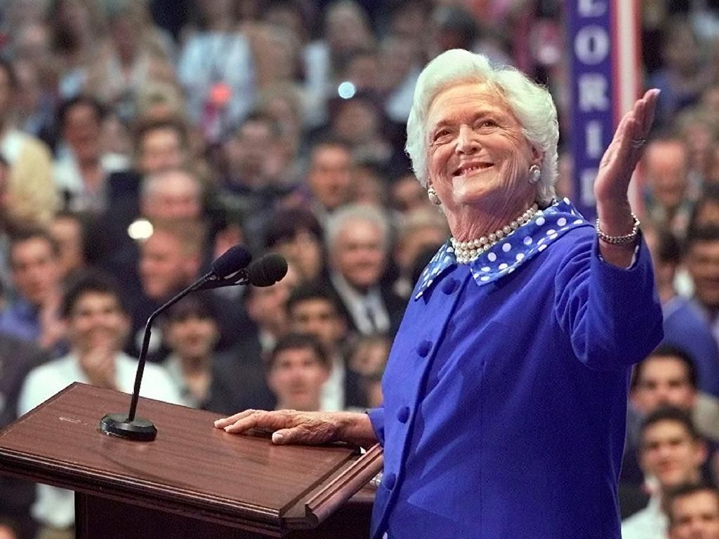 Potret Barbara Bush, Eks Ibu Negara AS yang Wafat di Usia 92 Tahun