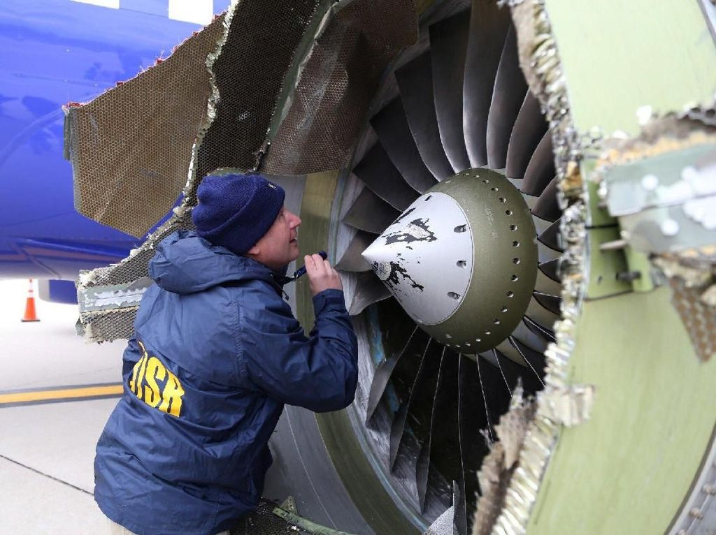 Mesin Pesawat Boeing 737-700 Southwest Juga Pernah Meledak 2016
