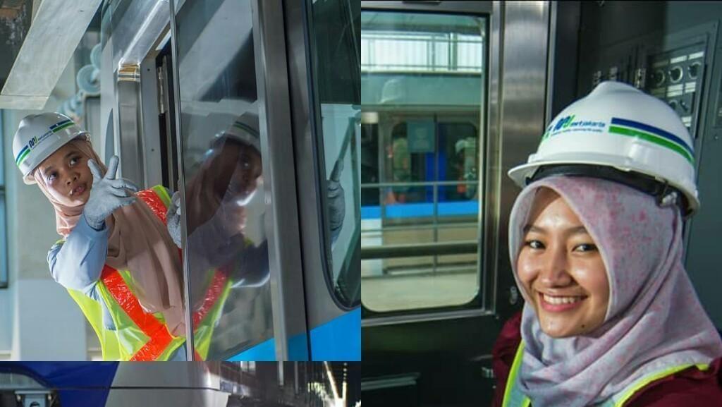Foto: Senyum Manis Masinis Perempuan Pertama MRT