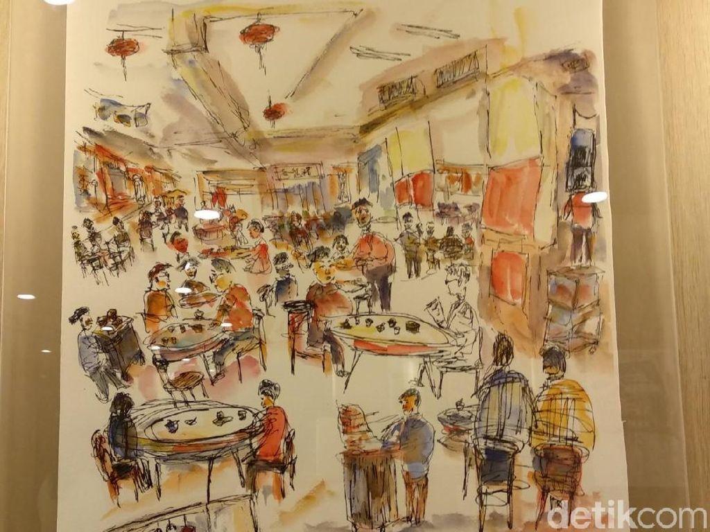 Ilustrasi Victor Law Hiasi Sudut Hotel JEN Hong Kong