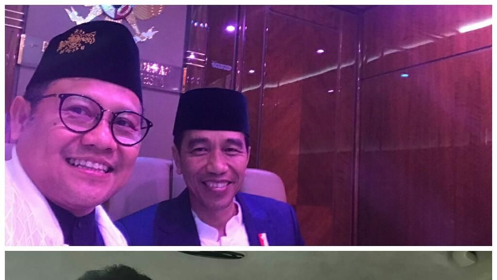 Adu Selfie Bareng Jokowi: Rommy vs Cak Imin