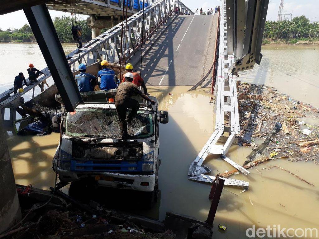 Polri Selidiki Insiden Jembatan Babat Ambrol